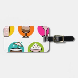 COCKTAILS colorés créatifs extraordinaires : Étiquettes Bagages