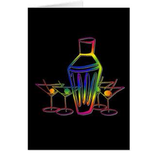 Cocktails d'arc-en-ciel carte de vœux