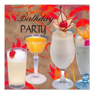Cocktails de fête d'anniversaire d'été tropicaux bristols
