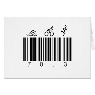Code barres 70,3 carte de vœux