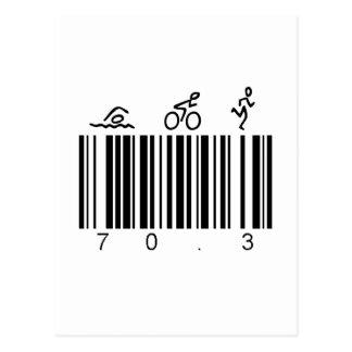 Code barres 70,3 cartes postales
