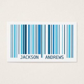 Code barres - bleu cartes de visite