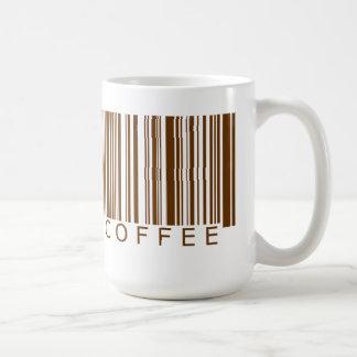 Code barres de café mug