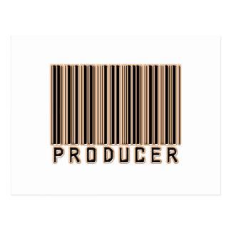 Code barres de producteur carte postale