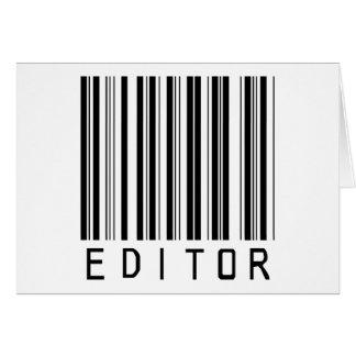 Code barres de rédacteur carte de vœux