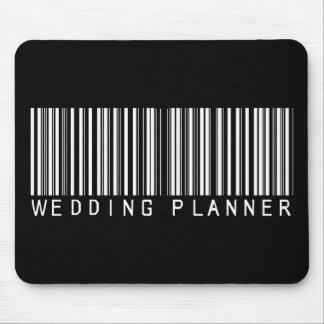 Code barres de wedding planner tapis de souris