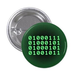 Code binaire pour le GEEK Badge Rond 2,50 Cm