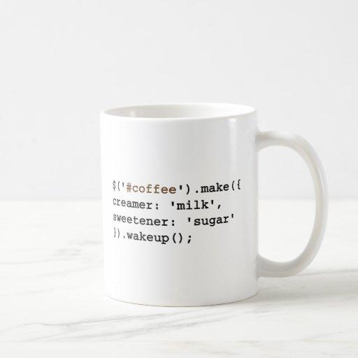 Code blond et doux de café de Javascript Tasse