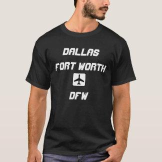 Code de Dallas/aéroport de Fort Worth, le Texas T-shirt