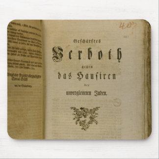 Code de procédure à partir de 1776 tapis de souris