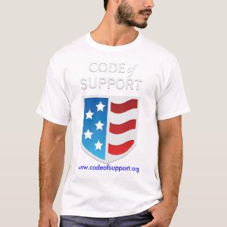 Code de T-shirt de soutien