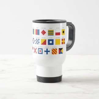 Code international d'alphabet de signaux mug de voyage