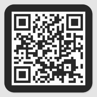 code personnalisable de QR Sticker Carré