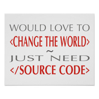 Code source poster
