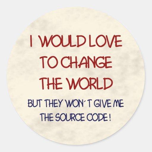 code source sticker rond