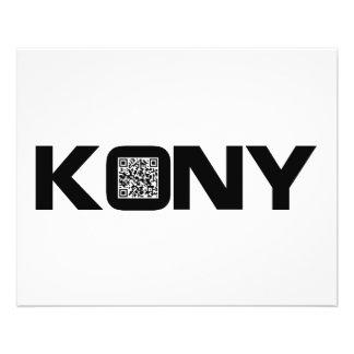 Code visuel Joseph Kony de Kony 2012 QR Prospectus 11,4 Cm X 14,2 Cm