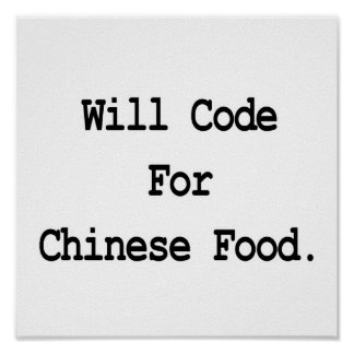 codera pour la nourriture chinoise affiches
