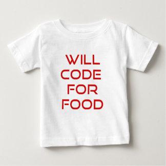 Codera pour la nourriture t-shirt pour bébé