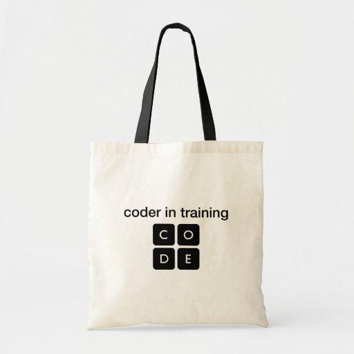 Codeur dans la formation sac