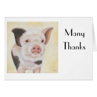 Cody le carte pour notes de Merci de porcelet