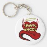 Coeur 100% de diable d'ange porte-clé