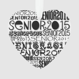 Coeur 2015 - ornement d'aîné de rétroviseur