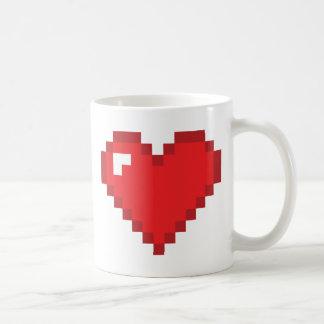 coeur à 8 bits tasse à café