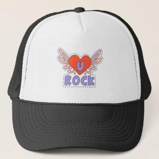 Coeur à ailes par roche lumineux casquette