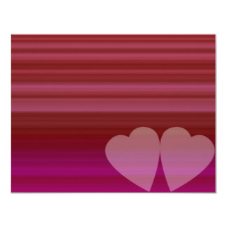 Coeur abstrait carton d'invitation 10,79 cm x 13,97 cm