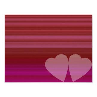 Coeur abstrait invitations personnalisées