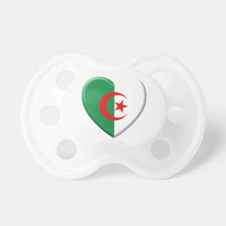 Cœur algérien avec drapeau Algérie Tétines