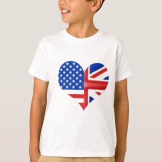 Coeur américain britannique t-shirts