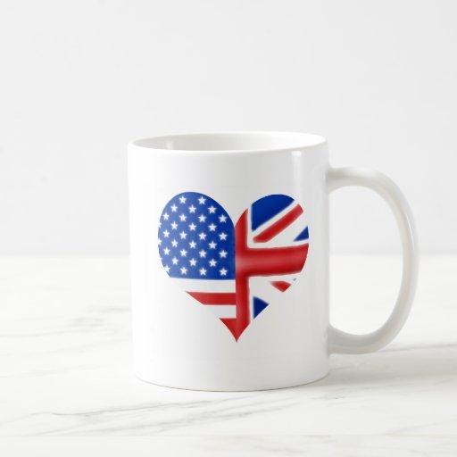 Coeur américain britannique tasse