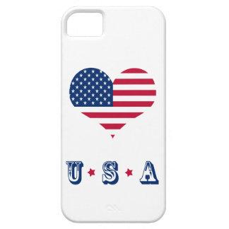 Coeur américain des Etats-Unis de drapeau de iPhone 5 Case