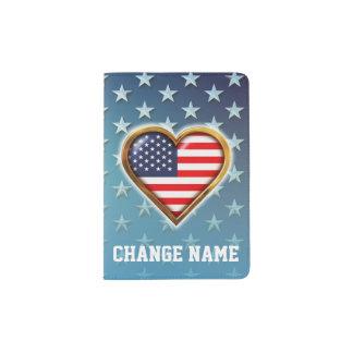 Coeur américain protège-passeport