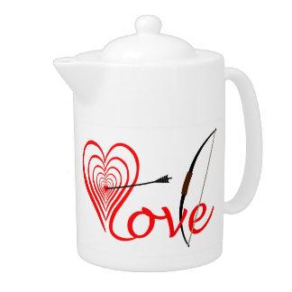 Coeur amour Dartscheibe avec la flèche et le coude