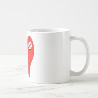 COEUR AMOUR FOU.png Mug Blanc