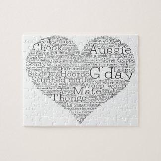 Coeur australien d'argot puzzle