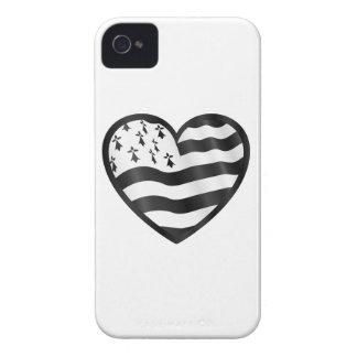 Coeur avec le drapeau de Bretin à l'intérieur Coque iPhone 4 Case-Mate