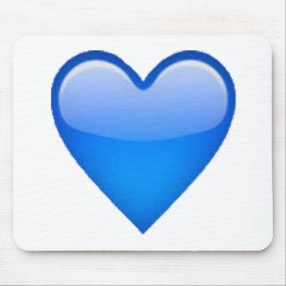 Coeur bleu - Emoji Tapis De Souris