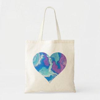 Coeur bleu Fourre-tout de achat de lavande Tote Bag