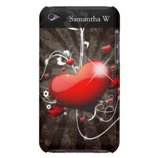 Coeur brillant avec l'arrière - plan grunge étuis barely there iPod