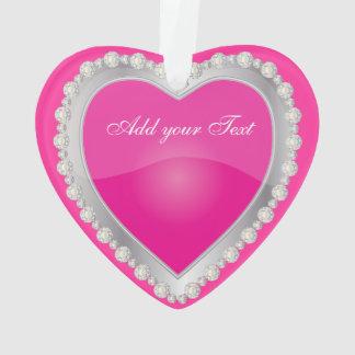 Coeur brillant de bijou d'argent de roses indien