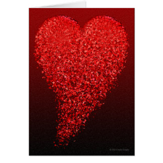 Coeur brisé carte de vœux