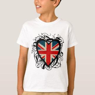 Coeur britannique décoratif t-shirt