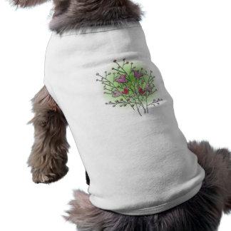 Coeur buisson hearts shrub t-shirts pour chien