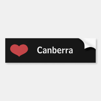 Coeur Canberra Autocollant Pour Voiture