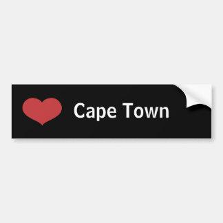 Coeur Cape Town Autocollant De Voiture
