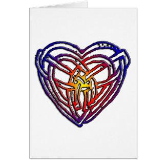 Coeur celtique d'arc-en-ciel cartes