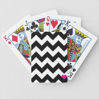 Coeur & Chevron - Noir/Rose Jeu De Poker